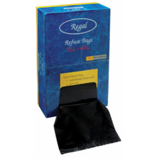 72-80L Black Bin Liner with Dispenser - Premier Hygiene