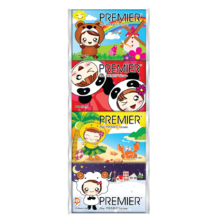 Pocket Tissue (Cartoon packing) - 8 sheets - Pure