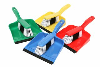 Edco Dust Pan & Brush Set - RED - Edco
