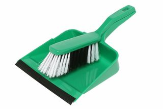 Edco Dust Pan & Brush Set - GREEN - Edco