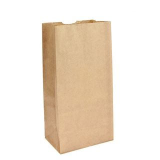 SOS Brown Block Bottom Paper Bags No 8 Standard Duty - UniPak