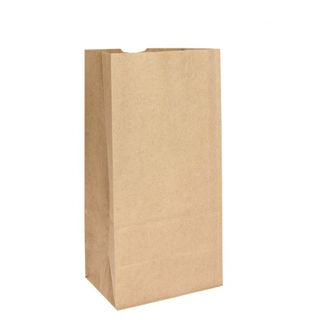 SOS Brown Block Bottom Paper Bags No 8 Heavy Duty - UniPak