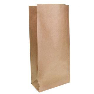 Brown Block Bottom Paper Bag No 4 Heavy Duty - UniPak