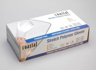 Polymer Gloves - Powder Free Medium- Coastal
