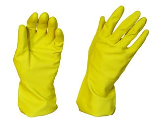 Rubber Gloves Silverline Yellow - Pomona