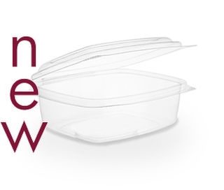 Clam Deli Bowl 450ml Brim - PLA - Vegware - Pack & Carton