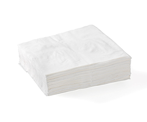 Lunch Napkin 1 Ply (1/4 Fold) White - BioNapkin