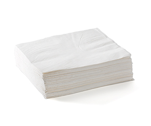 Lunch Napkin 2 Ply (1/4 Fold) White - BioNapkin