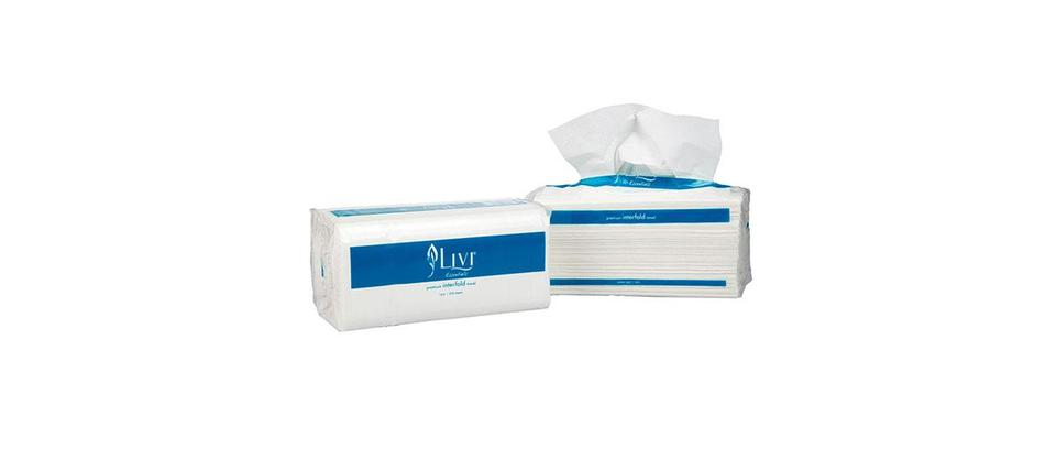 Premium Interfold Towel 1 ply 250 sheet - Livi Essentials