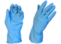 Rubber Gloves Silverline Blue - Pomona