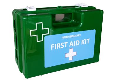 Medium Food/Catering First Aid Kit in Wall Mount Box
