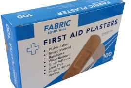 Box of 100's Fabric Plasters X wide, 76x25mm