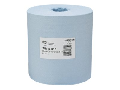 Basic 1 Ply 280M Roll CentreFeed Blue - Tork