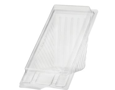 Eco-Smart' Bettaseal' Sandwich Wedges Large, Clear - Castaway