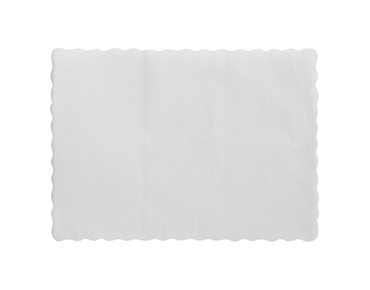Parego' Embossed Place Mats, Scalloped Edge, White 245x300mm - Castaway