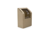 Box tortilla/wrap 9 x 5 x 13cm high kraft - Vegware